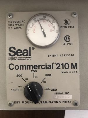 Seal Commercial 210M Dry Mounting Laminating Heating Press, in great  condition for Sale in Las Vegas, NV - OfferUp