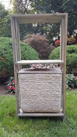 Wood shelf W/basket for Sale in Avon, OH