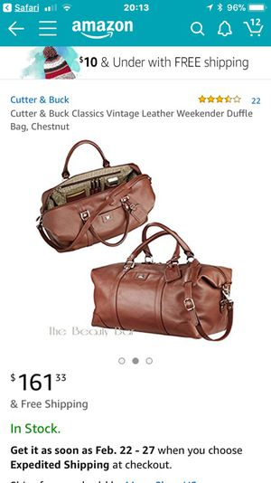 CUTTER   BUCK classic vintage leather weekender duffle bag for Sale in  Brooklyn 6795c2e9b4e78