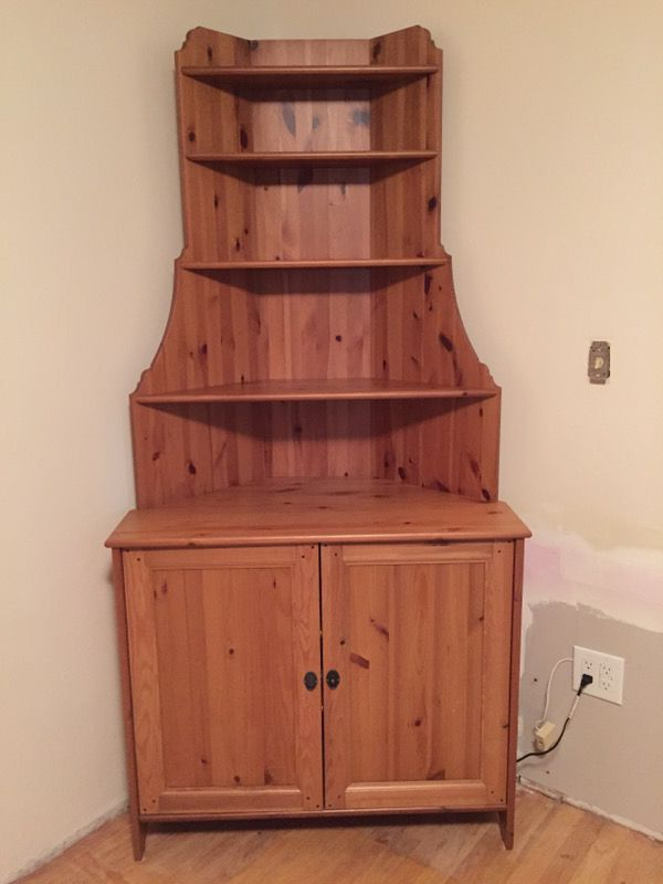 Pending Ikea Leksvik Corner Hutch Cabinet For Sale In