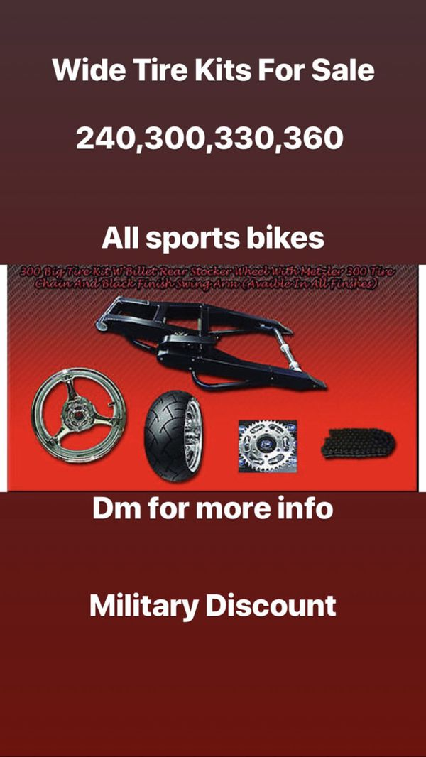Motorcycle Wide Tire Kits Sale for Sale in Virginia Beach