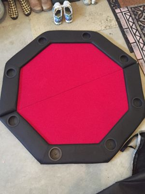 Foldable Poker/Gaming Tabletop with Poker Chips for Sale in Fairfax, VA