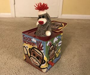 Classic Sock Monkey Pop Up Toy! for Sale in Laurel, MD