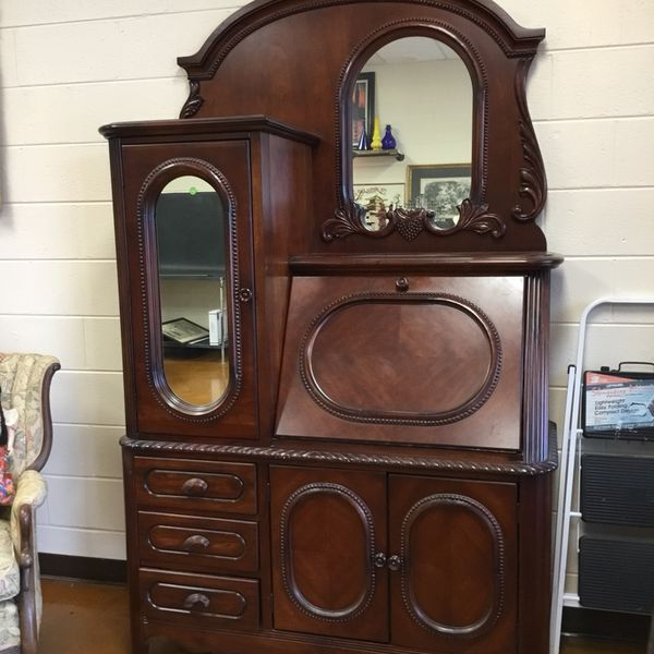 Havertys Secretary Dresser Vanity Cabinet Antique Repro Greenville Sc