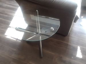 Two small glass end tables for Sale in St. Louis, MO