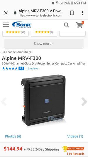 Consumer Electronics MRV-F300 ALPINE 300W 4-Channel Class D