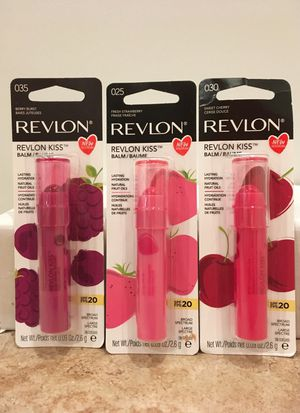 Set of 3 Revlon Kiss lip balm for Sale in Alexandria, VA
