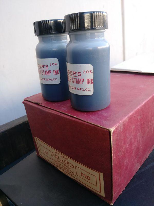 Volgers Rubber Stamp Ink Red Bottle For Sale In Riverside CA