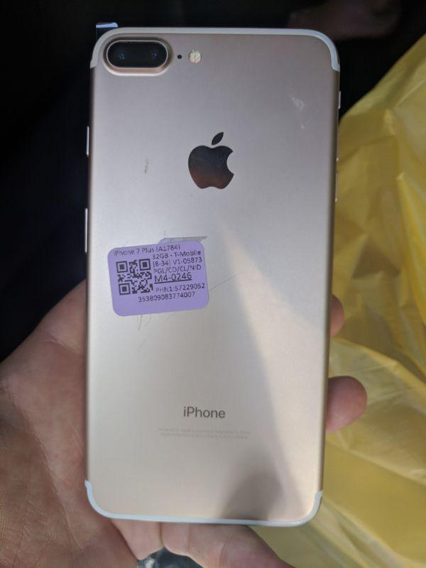 Gold tmobile/Metro pcs apple iPhone 7 PLUS 32gb waterproof for Sale in San  Jose, CA - OfferUp