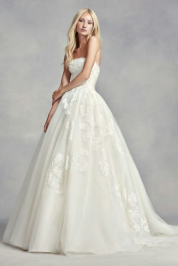 White by Vera Wang Strapless Tulle Wedding Dress for Sale in Atlanta ...