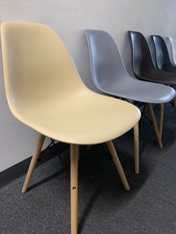 Brand new $25 each century modern leisure dining chair wood legs black dark brown gray tan white colors available  Thumbnail