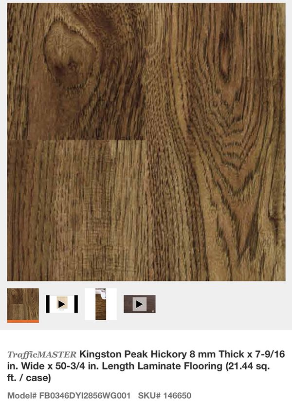 Trafficmaster Kingston Peak Hickory 8 Mm Thick X 7 9 16 In Wide 50 3 4 Length Laminate Flooring For Glendale Az Offerup