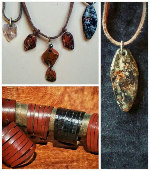 Handmade earthy necklaces and bracelets