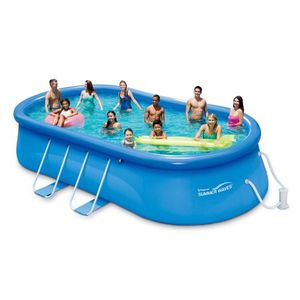 "Summer Waves 20' x 12' 48"" Quick Set Oval Frame Above Ground Swimming Pool with Filter Pump System And Deluxe Accessory Set (Stan) for Sale in Houston, TX"