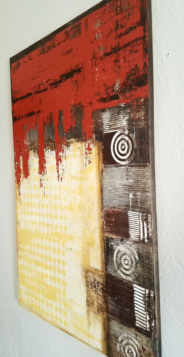 Wall Art Decor Abstract Acrylic Painting 24X36 for Sale in Hollywood ...