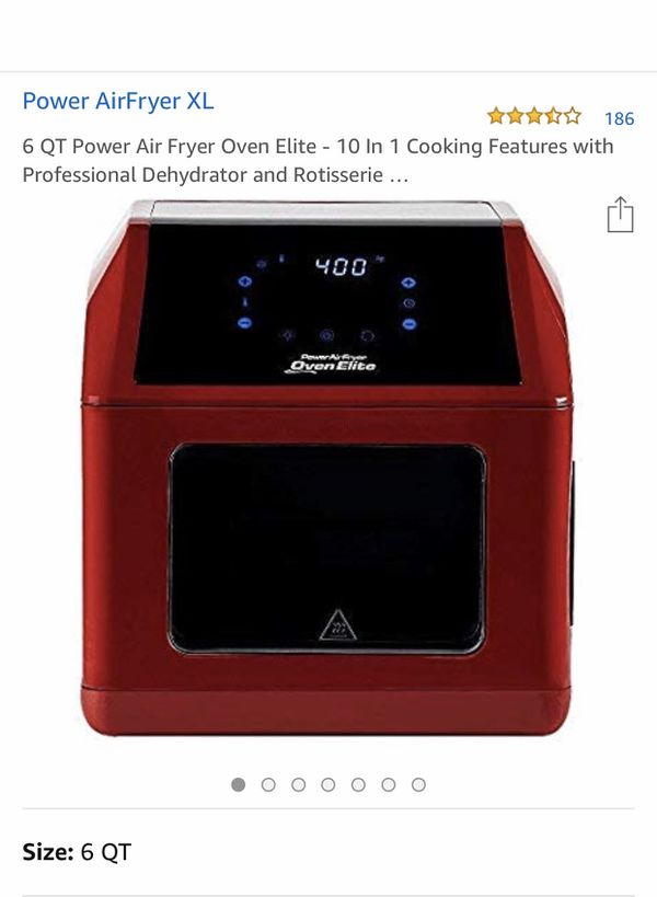 6 quart Power Air Fryer Oven Elite (red) for Sale in San Jose, CA - OfferUp