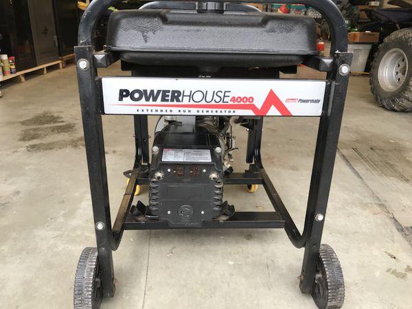 Coleman powerhouse 4000 watt generator for Sale in Bainbridge Island, WA -  OfferUp