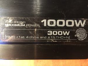 Kenwood KAC-81050 1000w price Negotiable - Bass Amplifier Amp Car Audio Music electronics for Sale in Tempe, AZ