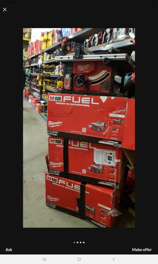 MILWAUKEE M18 FUEL BRUSHLESS 8-1/4 TABLE SAW TOOL ONLY BRAND NEW