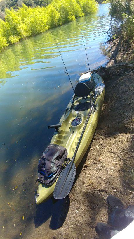 Lifetime tamarack angler dark green boats marine in for Tamarack fishing kayak