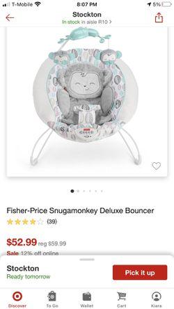Fisher Price Snugamonkey Deluxe Bouncer Thumbnail