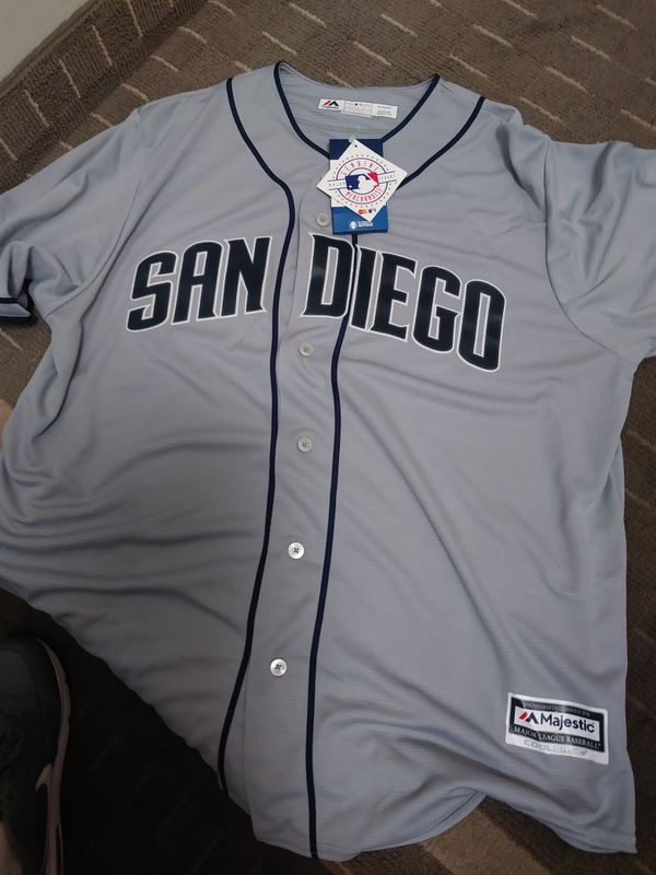0c3f3a6a7 ... denmark san diego padres majestic cool base road jersey mens and womens  clothing shoes in chula