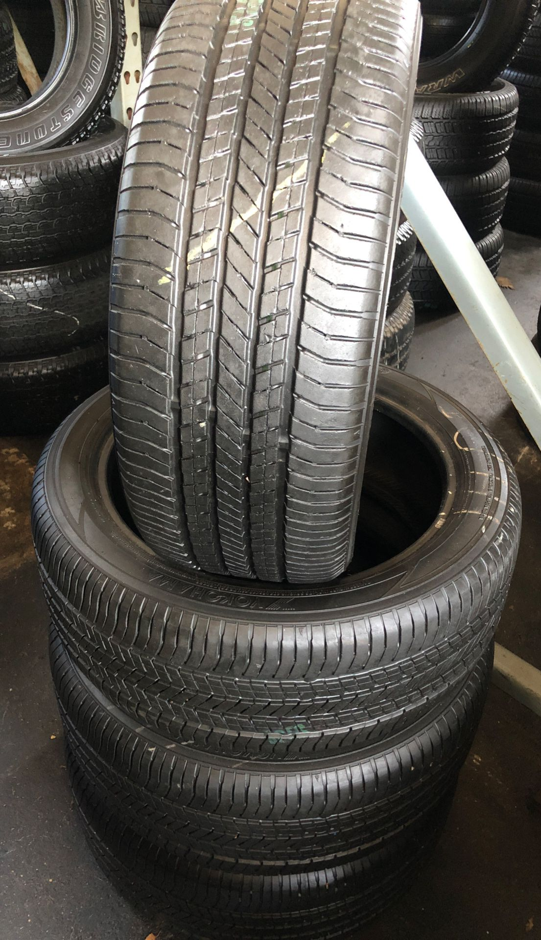Set of semi new tires 215/60R18 Yokohama for $230 the price includes installation and balance, ask for any size you need