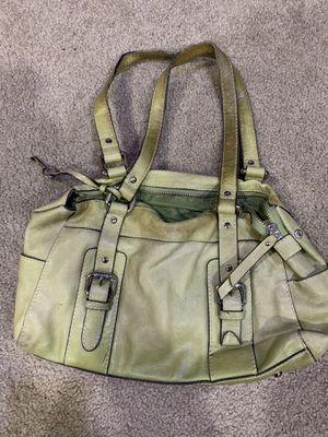 Photo Fossil green leather handbag purse