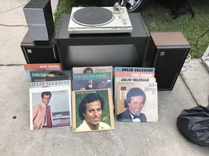 13 good condition Julio Iglesias Albums with a record player and speaks no needle for Sale in Tampa, FL