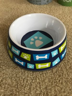 Pets bowl nail cutter trash bags and leash for Sale in Alexandria, VA