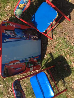 Photo The movie cars table and chairs great for all activities ready for its new home