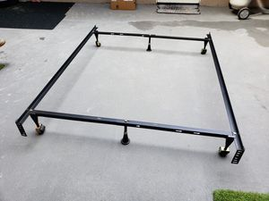 Photo Metal bed rails full or queen