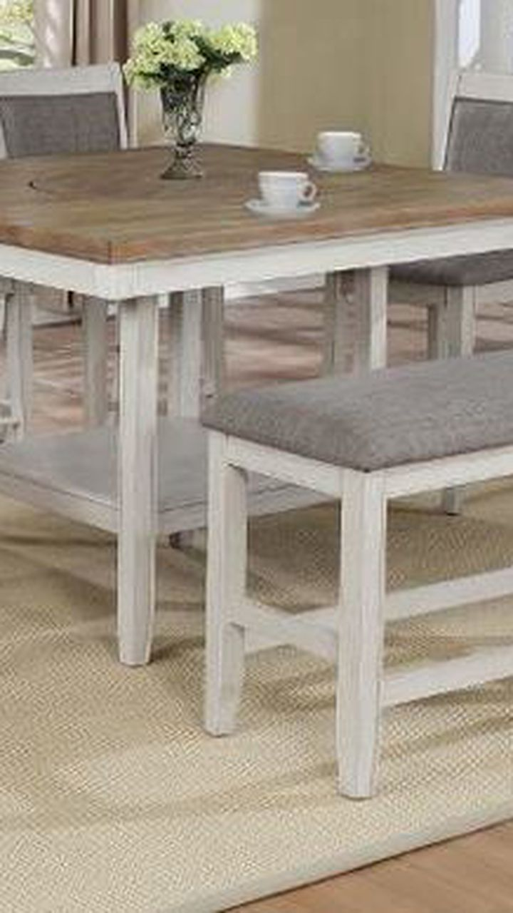 6 Pcs counter height dining table. Price firm. 2