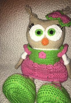 Cute small owl doll hand made Thumbnail