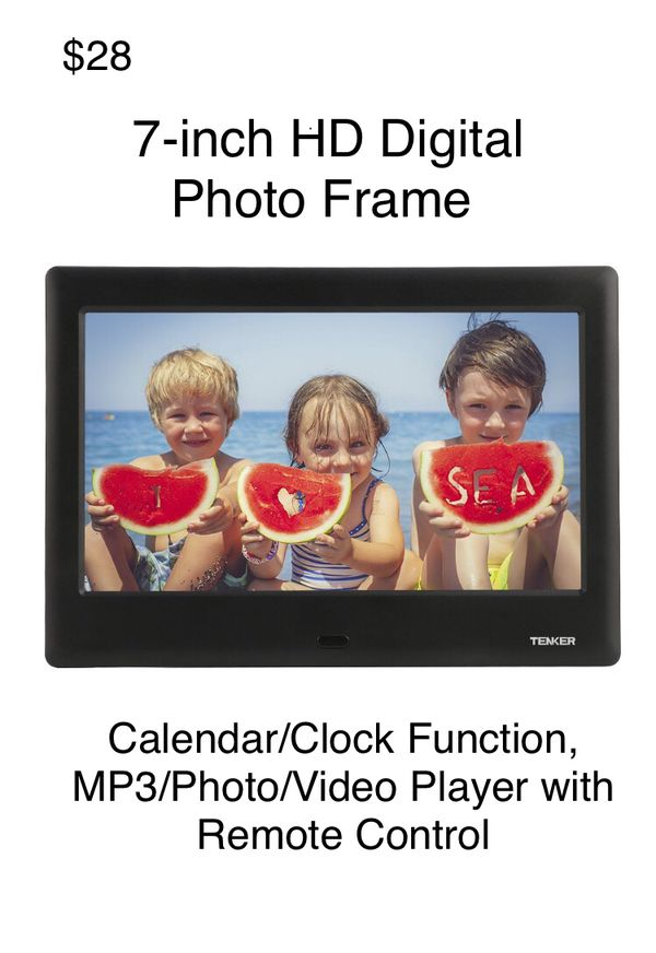 TENKER 7-inch HD Digital Photo Frame IPS LCD Screen with Auto-Rotate ...