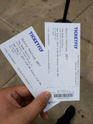 Outcry Festival Tickets $70! For 2 tickets for Sale in Dallas, TX