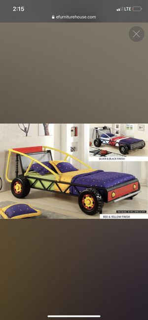 Photo Twin bed race car