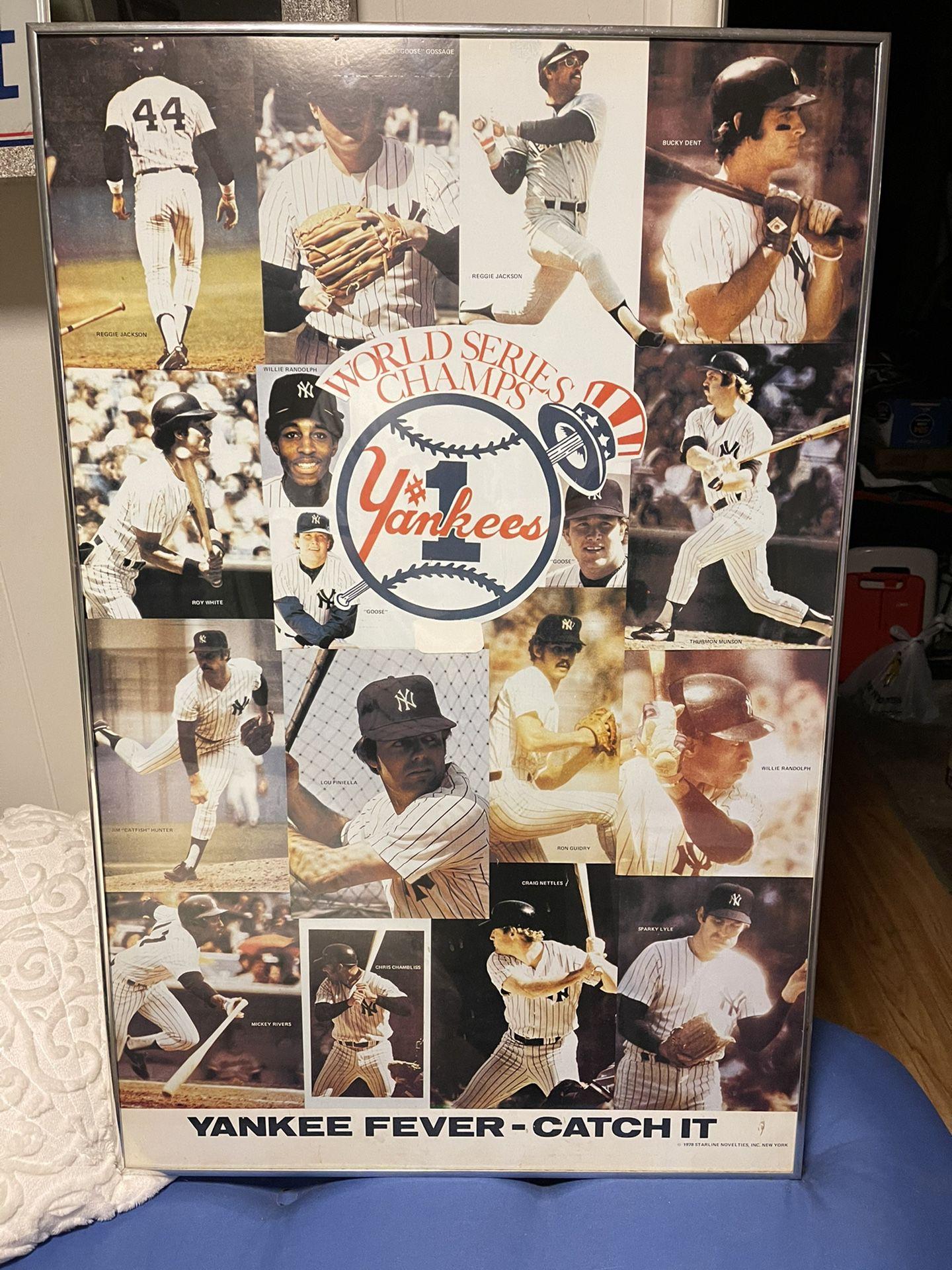 1978 NY Yankees Poster Framed