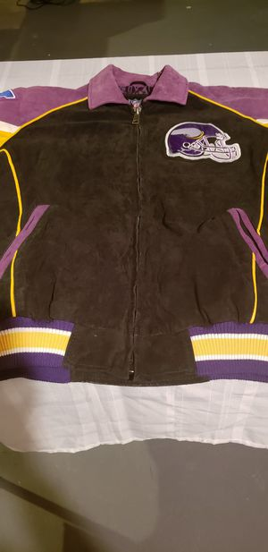 buy popular a091e ff5cd NFL MINNESOTS VIKINGS LARGE SUEDE JACKET for Sale in ...