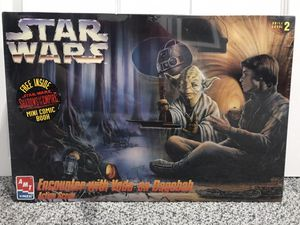 "Photo Star Wars - ""Encounter with Yoda on Dagobah"" AMT model kit SEALED."