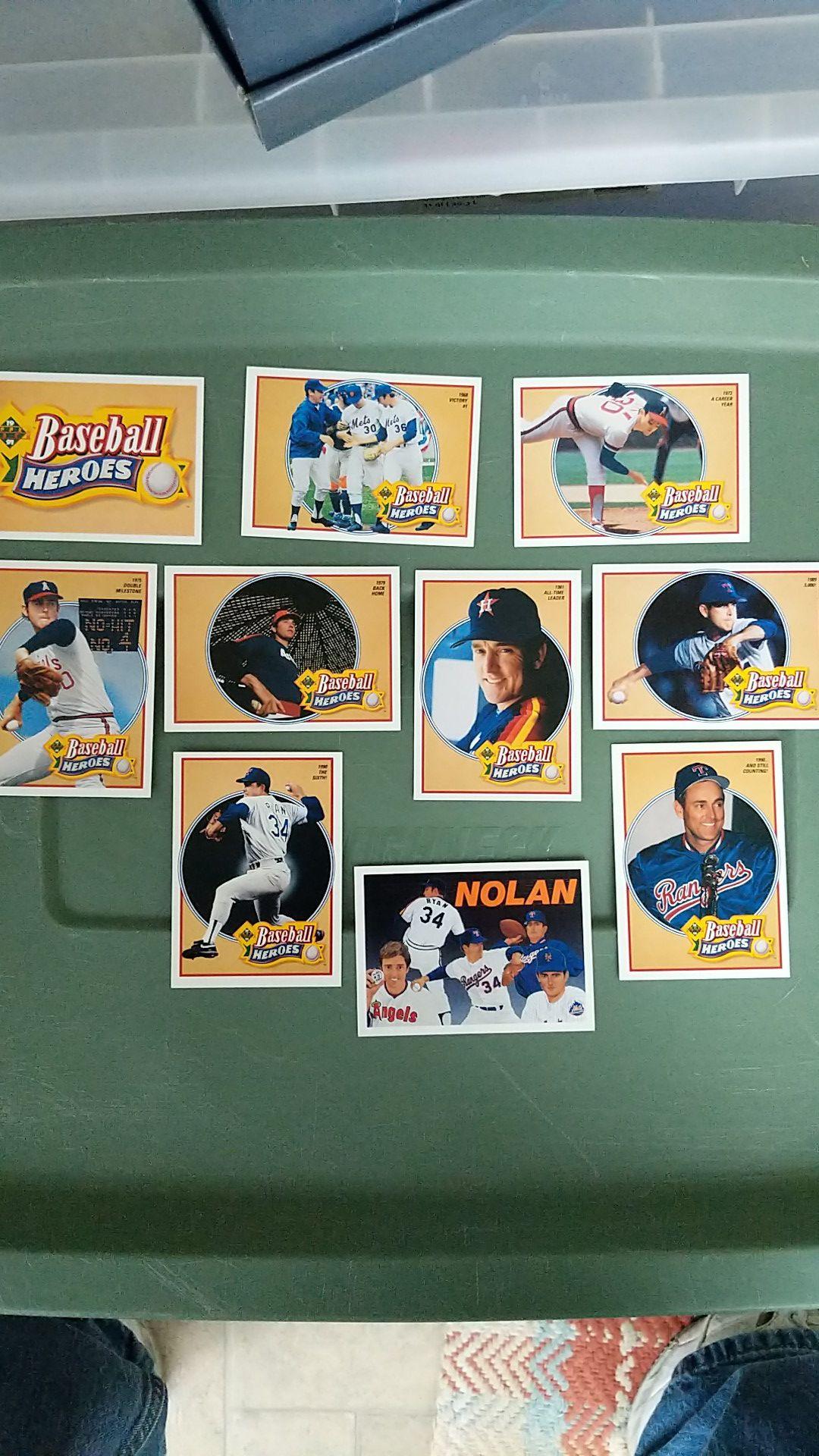 Nolan Ryan – Hall of Famer (22 cards total)