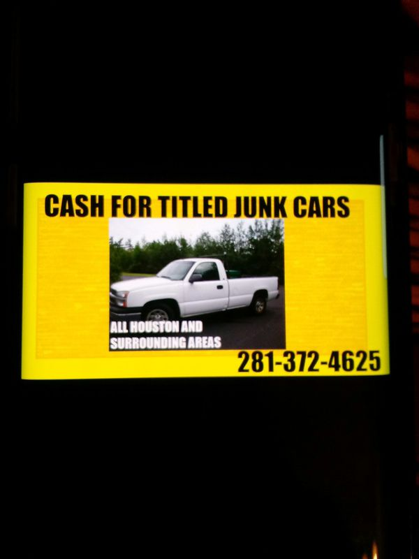 Sell Us Your Junk Car With Title Only Compro Yonkes Con Titulo