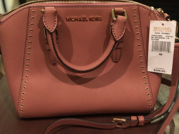 801ce57b403a MICHAEL KORS CIARA GROMMET MEDIUM MESSENGER