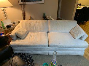 Photo Large White Sofa