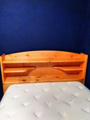 Bed frame with headdress for Sale in Austin, TX