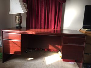 Office Desk - Dark wood for Sale in Ashburn, VA