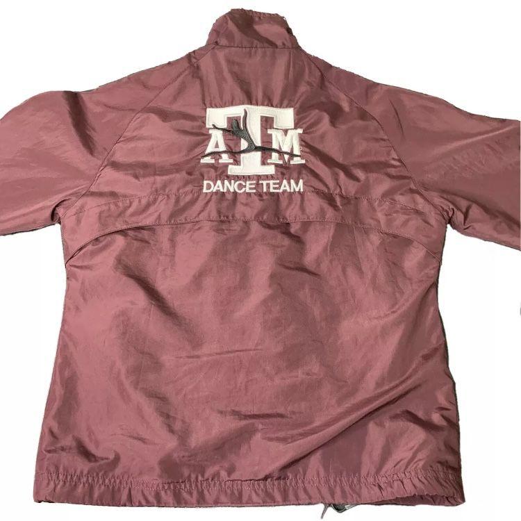 Texas A&M Aggies Dance Team NCAA Adidas Windbreaker Jacket - Women's Size Medium