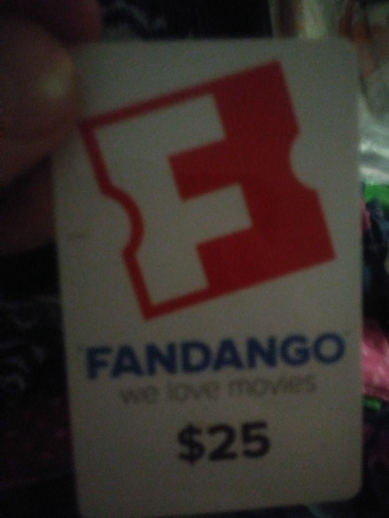 Fandango movie card