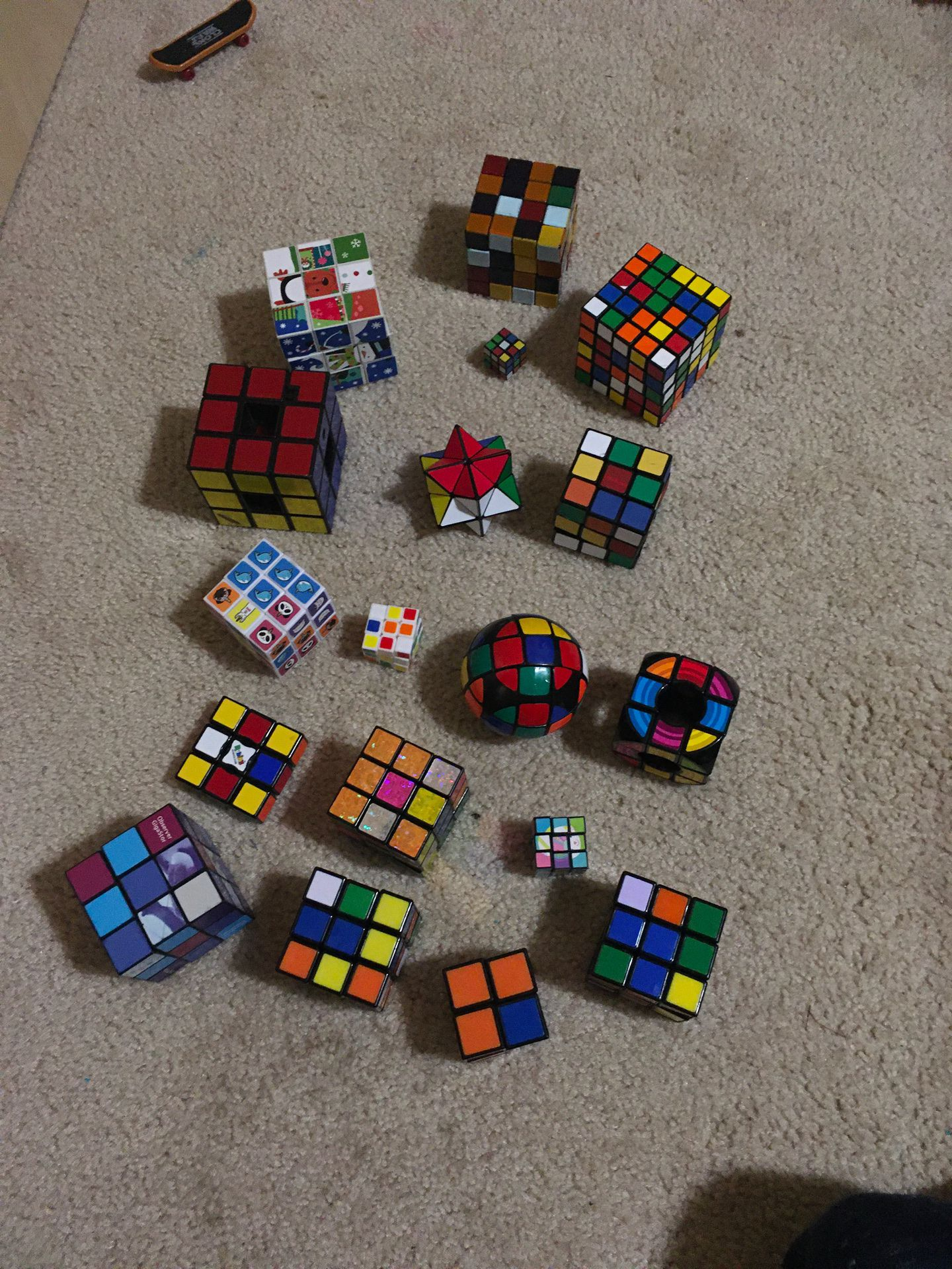 Rubiks cube like new I can sell them each or separate