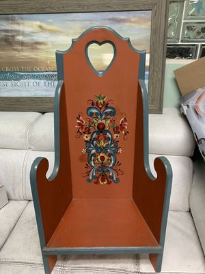 Antique wooden doll chair for Sale in Miami, FL